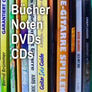Bücher, Noten, DVDs, CDs zum Gitarrespielen